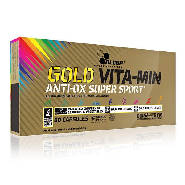 Gold Vita-Min anti-OX super sport Mega Caps 60 kaps Olimp