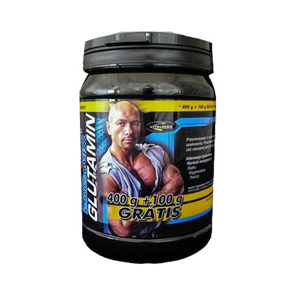 Glutamin L-100% Base 400g+100g Vitalmax